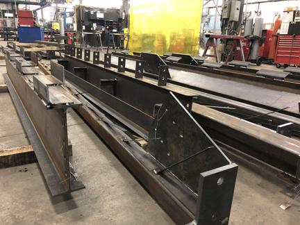Projet de poutres d'acier réalisé avec précision